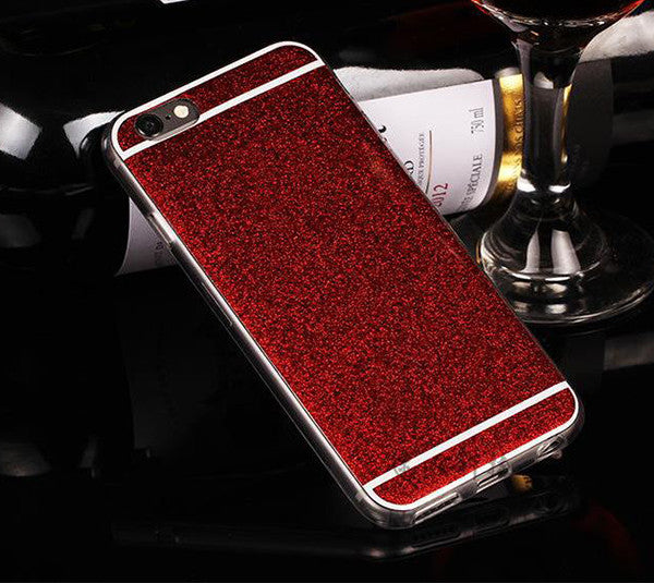 Luxury Shiny  Glitter iPhone 6S 6 Plus 5S 5 SE Soft TPU Case Dual Slim  Black SJK-0001-2 - Apple iPhone Xs/iPhone Xr case by Retina Designs