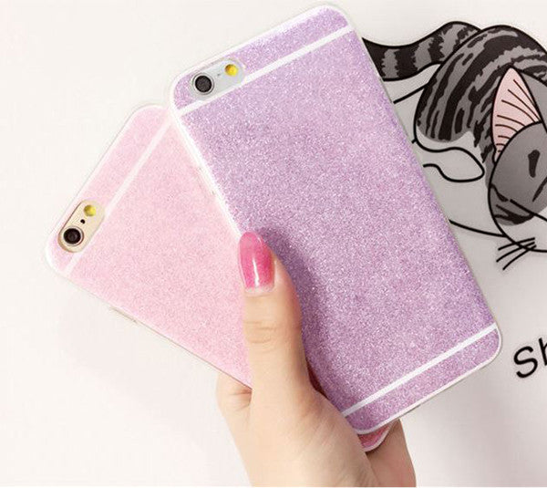 Luxury Bling Glitter iPhone 6S 6 Plus 5S 5 SE Soft TPU Case  Pink SJK-0001-1