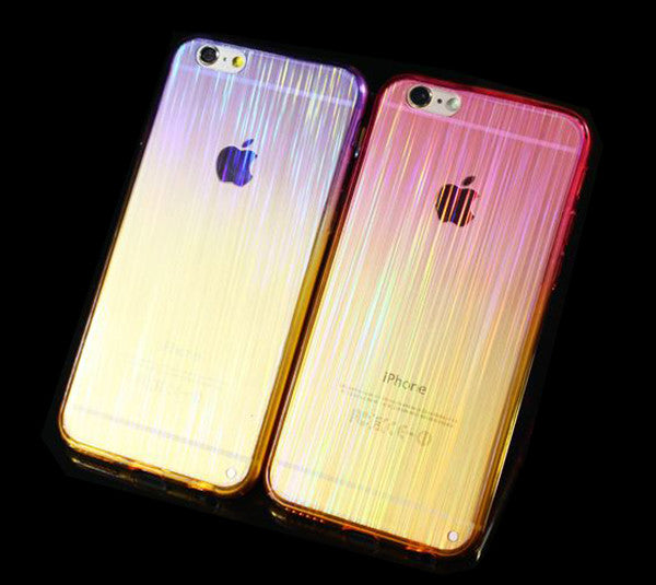 Gradient Color  Shining iPhone 6S 6 Plus 5S 5 SE Soft TPU Clear Case SJK-0002