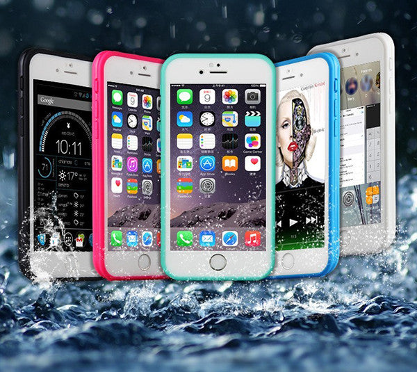 Underwater Waterproof Shockproof Full Sealed  iPhone 6S 6  Plus 5S 5 SE Durable Protective Case  SJK-0003-2 - Apple iPhone Xs/iPhone Xr case by Retina Designs