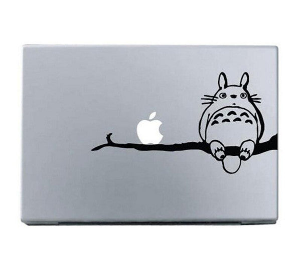 "Black Totoro My Neighbor  DIY MacBook Skin Decal Sticker for Apple Macbook Pro Air Mac 13"" inch Laptop 13 Inch SKI-006 - Apple iPhone Xs/iPhone Xr case by Retina Designs"