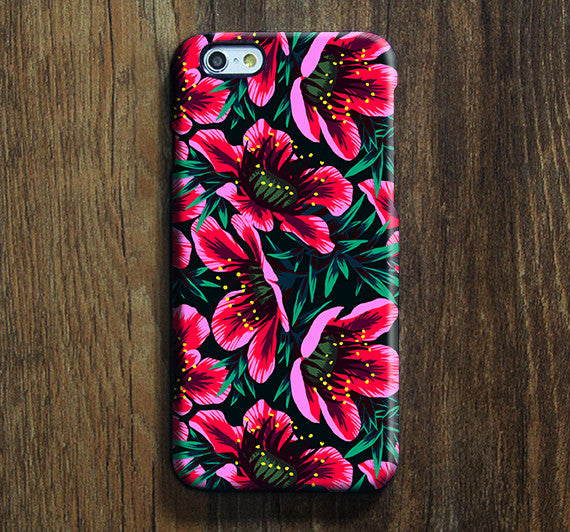 Pink Chic Floral iPhone 6s Case | iPhone 6 plus Case | iPhone 5 Case | Galaxy Case 3D SW01