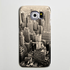 Manhattan Skyline Galaxy S8 Case  Case Galaxy S7 Edge Plus Case 186 - Apple iPhone Xs/iPhone Xr case by Retina Designs