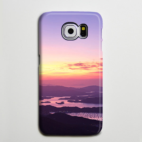 Landscape Island and Sea Sunset Galaxy S8 SE Case  Case Galaxy S7 Edge Plus Case 189 - Apple iPhone Xs/iPhone Xr case by Retina Designs