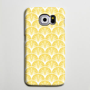 Art Deco Vector Yellow Galaxy S8 SE Case  Case Galaxy S7 Edge Plus Case 190 - Apple iPhone Xs/iPhone Xr case by Retina Designs