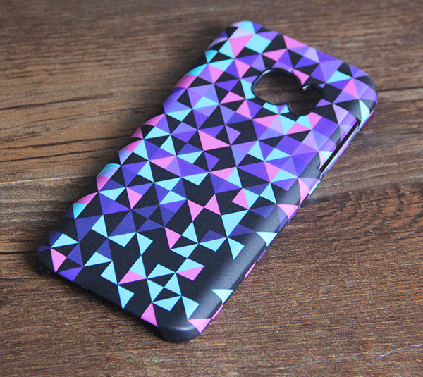 Violet Geometric Triangle Samsung Galaxy S7 Edge S7 Case Galaxy S6 edge+ S5 S4 S3 Samsung Note 5/4/3/2 Cover S7-04