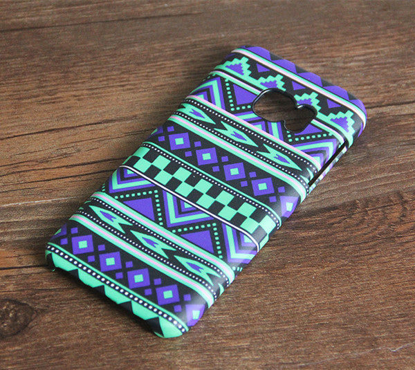 Violet Native Ethnic Galaxy S7 Edge S7 SE Case Galaxy S8+  S3 Samsung Note 5/3/2 Cover S7-084lime - Apple iPhone Xs/iPhone Xr case by Retina Designs