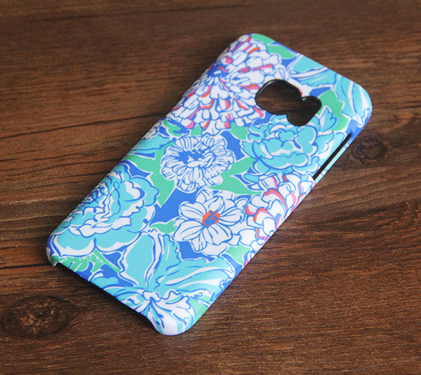 Blue White Floral Samsung Galaxy S7 Edge S7 Case Galaxy S6 edge+ S5 S4 S3 Samsung Note 5/4/3/2 Cover S7-138