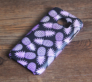 Purple Pineapple Fruit for iPhone 7 plus iPhone 7 Galaxy s7-474x