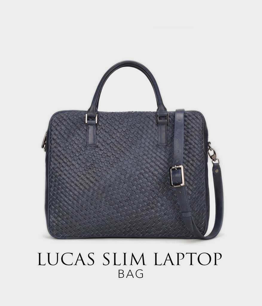 Lucas Briefcase | Luxe woven Leather