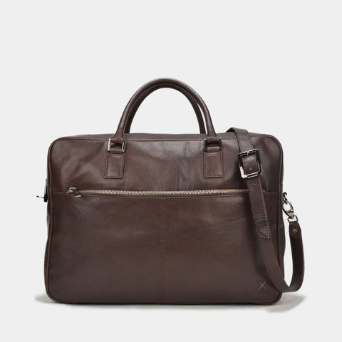 TERRACOMO Mens Scoville Double Zip Briefcase