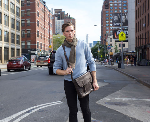TERRACOMO Mens Brooklyn Messenger