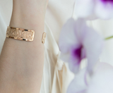 Rose Gold Cuff, Delicate Rose Gold Jewelry, Rose Gold Bangle, Dots Bracelet, Dainty Rose Gold Cuff, Thin Rose Gold Bracelet