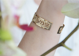 Judaica Gold Cuff, Delight, Hebrew Jewelry, Psalm Verse, Gold Jewelry, Unique Jewish Jewelry, Religious Jewelry, Inspiration