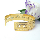 "Gold Cuff ""I Can Manifest Anything"" Affirmation Jewelry Personal Development, Dainty Cuff, Manifesting, Spiritual Jewelry, Success"
