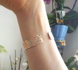 Hebrew Yhwh Rose Gold Cuff, Jehovah Jewelry, Rose Gold Bangle, Rose Gold Bracelet, Spiritual Jewelry, Unique Jewelry, Inspirational