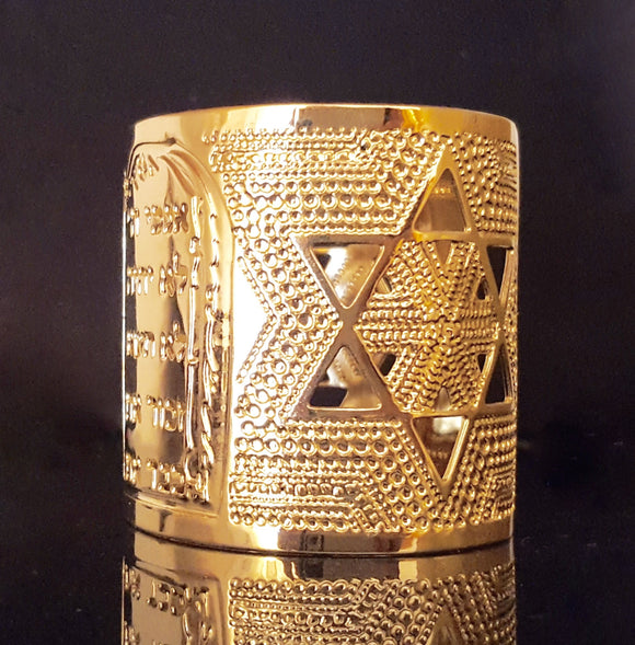 Gold Cuff Bracelet, Jewish Jewelry, Ten Commandments, Star Of David, Jewish Star, Gold Jewelry, Modern Jewelry, Jewish Jewelry