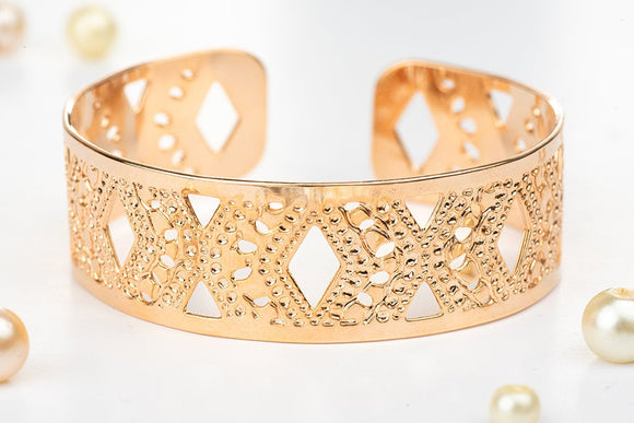 Rose Gold Cuff Bracelet, Small Diamond Rose Gold Cuff, Dainty Jewelry, Handmade, Packaged And Ready For Gift Giving, Jewish Jewelry