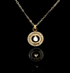 Kabbalah Sacred Necklace, Pearl Necklace, Coin Necklace, Gold Necklace, Unique Jewish Jewelry, Hebrew Jewelry, 72 Names