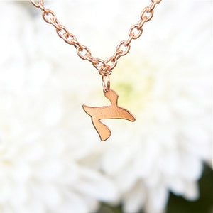 Hebrew Letter Necklace, Minimal Rose Gold Necklace, Tiny Personalized Letter Necklace, Hebrew Jewelry, Unique Jewish Jewelry