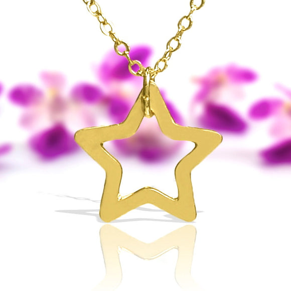 Star Necklace, Gold Necklace, Dainty Gold Necklace, Gold Jewelry, Delicate Rose Gold Necklace, Tiny Rose Gold Star Necklace