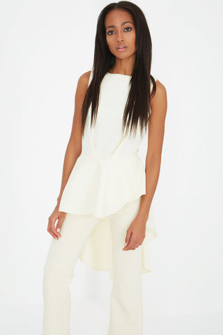 Structured Top with Waterfall Back - DISTRICT-FASHION - 1