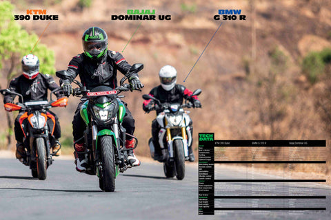 Fast Bikes India-390 vs Dominar vs 310GS (Limited Edition) | Poster