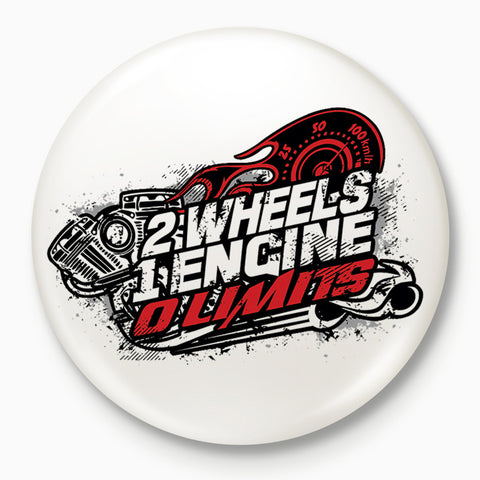 2 Wheels 1 Engine 0 Limits | Badge