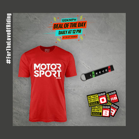5th March-Motor Sport | T-Shirt +1.N.2.3.4.5.6 | Keychain +Blood Group | Stickers | Deal of the Day