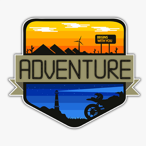 Adventure - Begins With You | Sticker