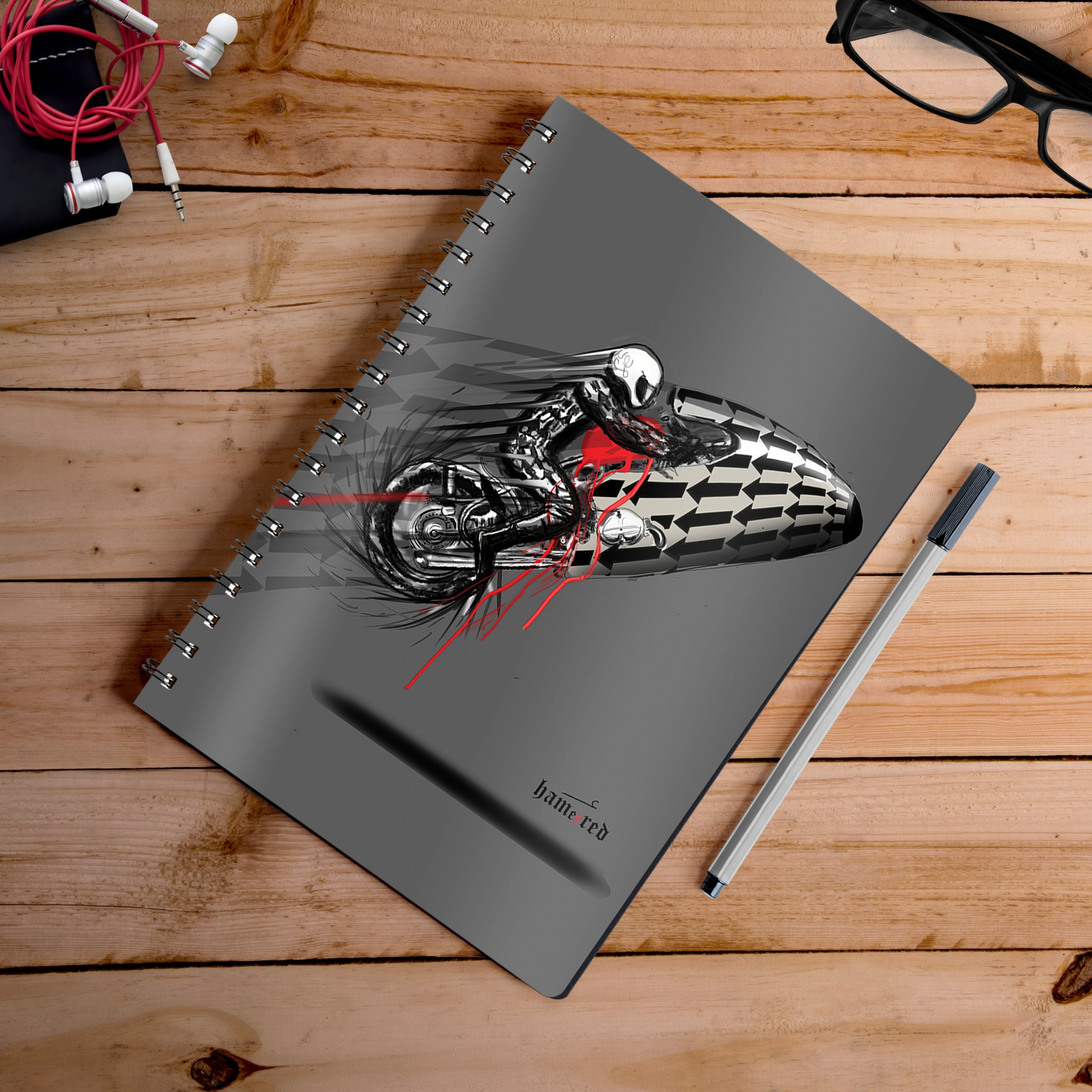 Buy-Sprint-Beemer-Artist-Hamerred49-Notebook | 100kmph