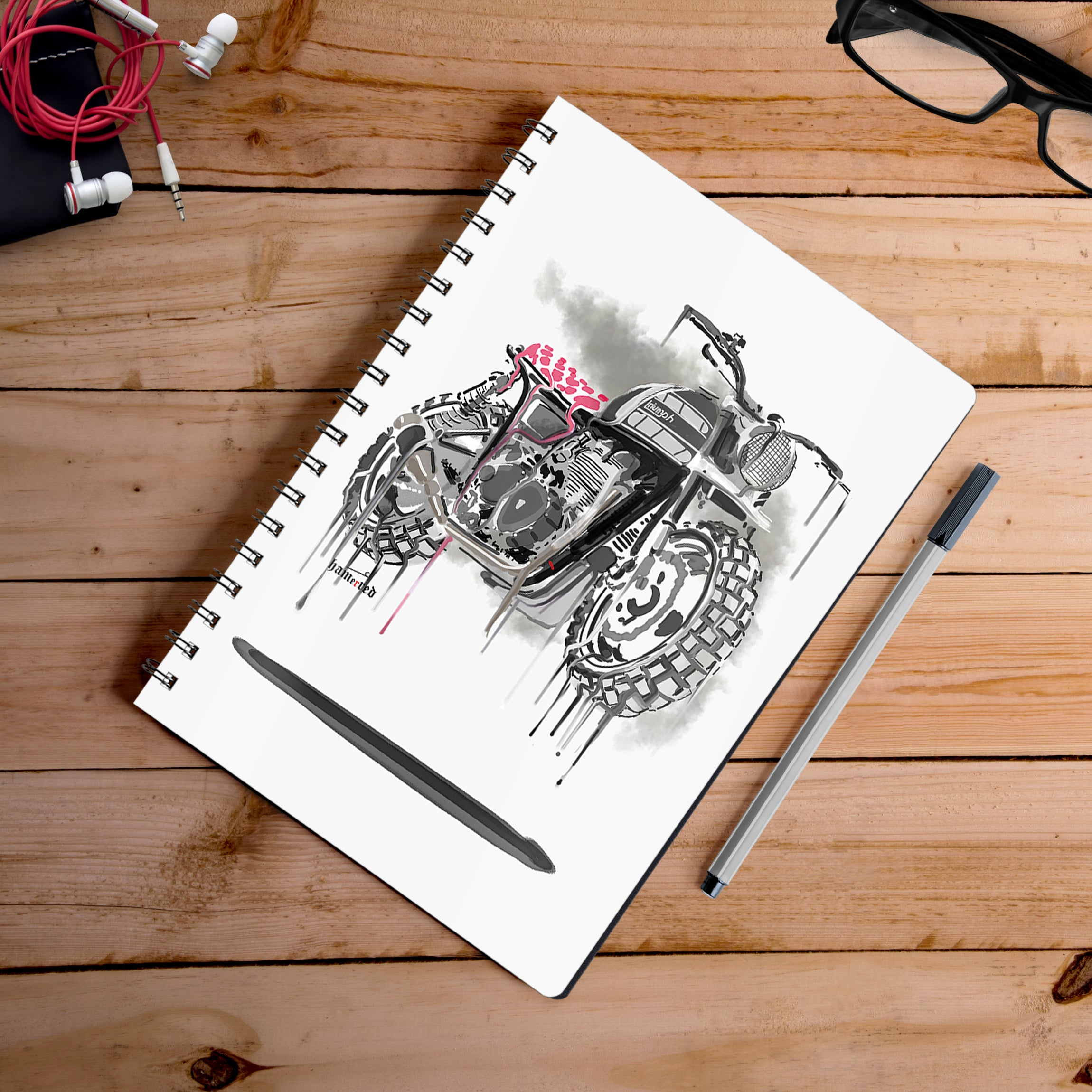 Buy-Brutise-Down-And-Out-Artist-Hamerred49-Notebook | 100kmph