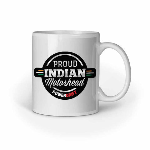 Powerdrift-Proud Indian Motorhead-White | Coffee Mug
