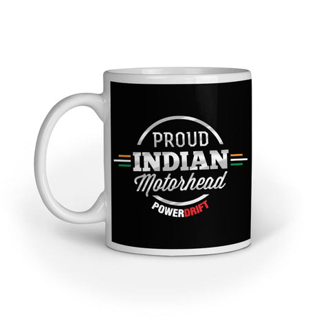 PowerDrift-Proud Indian Motorhead-Black | Coffee Mug