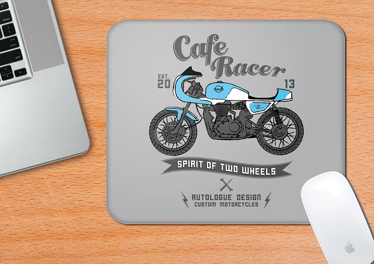 Buy-Cafe-Racer-Mouse-Pad| 100kmph
