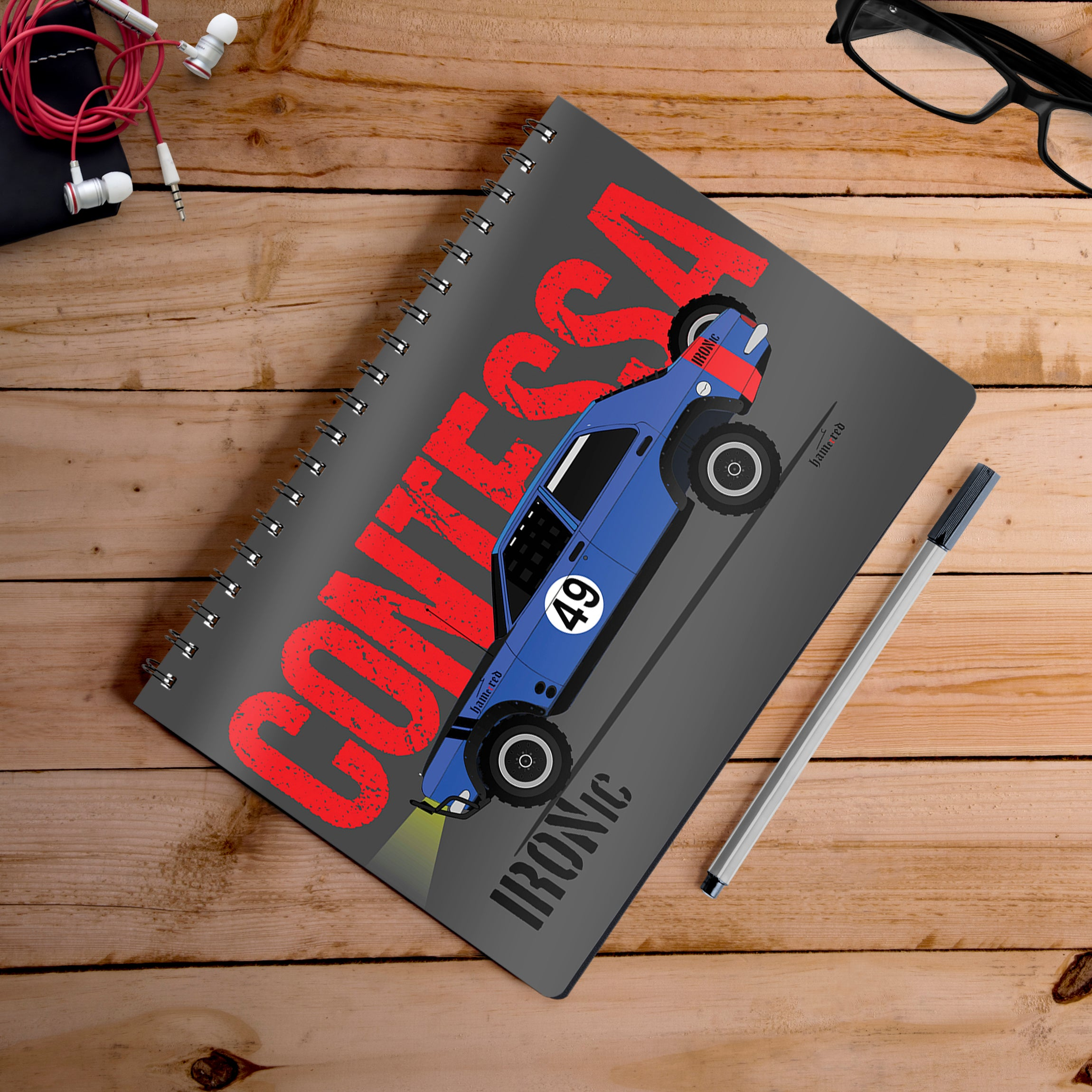 Buy-Contessa-Artist-Hamerred49-Notebook | 100kmph