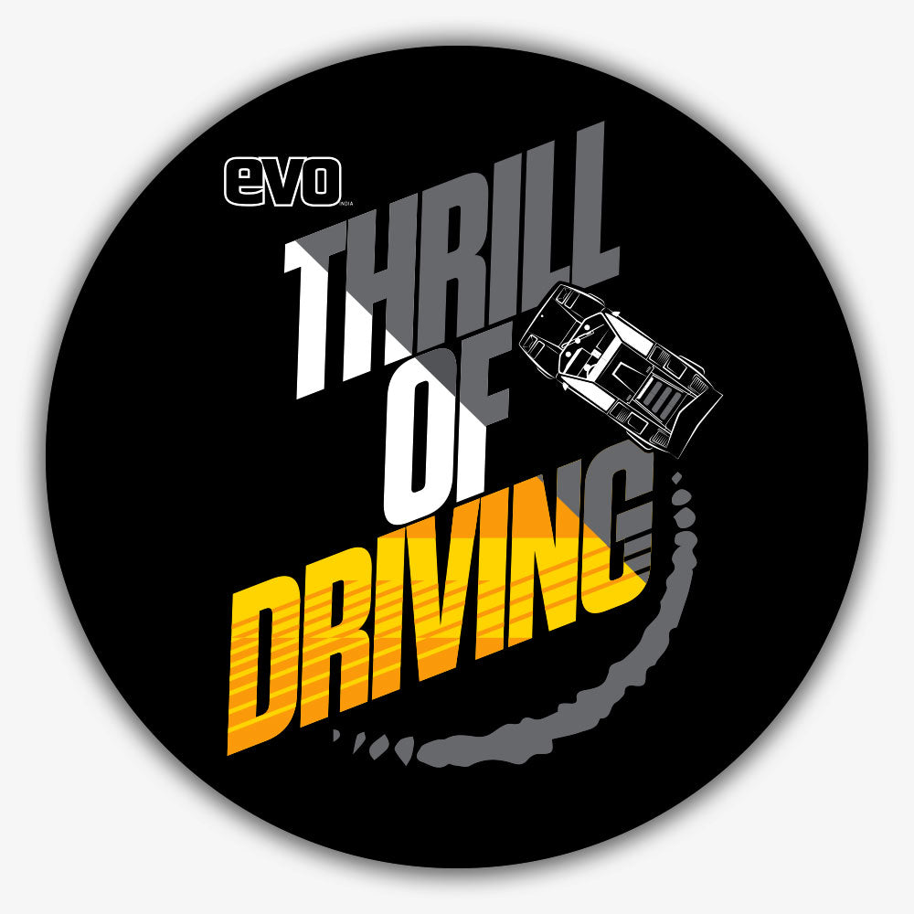 COUNTACH-THRILL OF DRIVING-EVO INDIA | Sticker