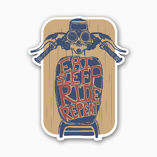 Eat-Sleep-Ride-Repeat | Sticker