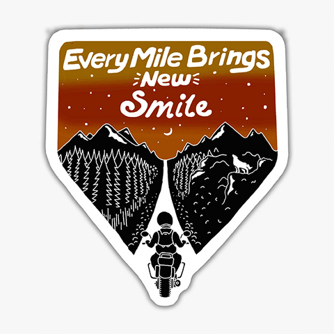 Every Mile Brings New Smile | Sticker