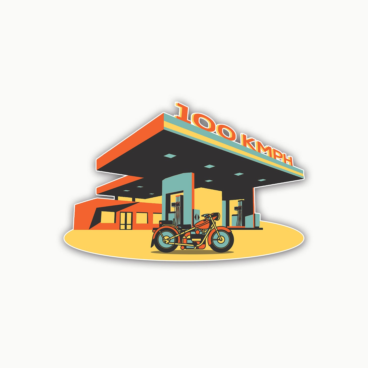 Gas Station | Sticker