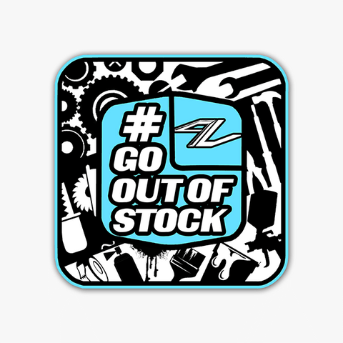 Go Out Of Stock-Blue | Sticker
