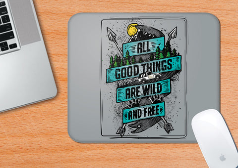 Wild And Free | Mouse Pad