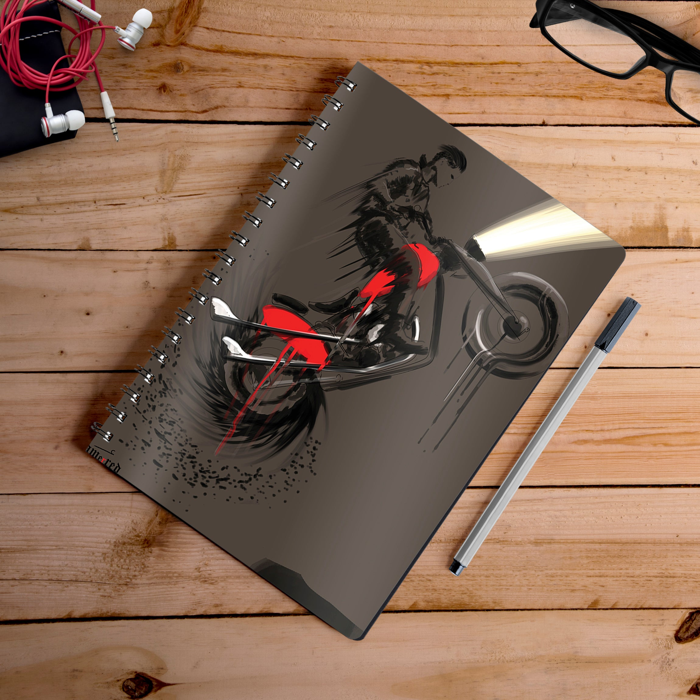 Buy-Hill-Climb-Artist-Hamerred49-Notebook | 100kmph