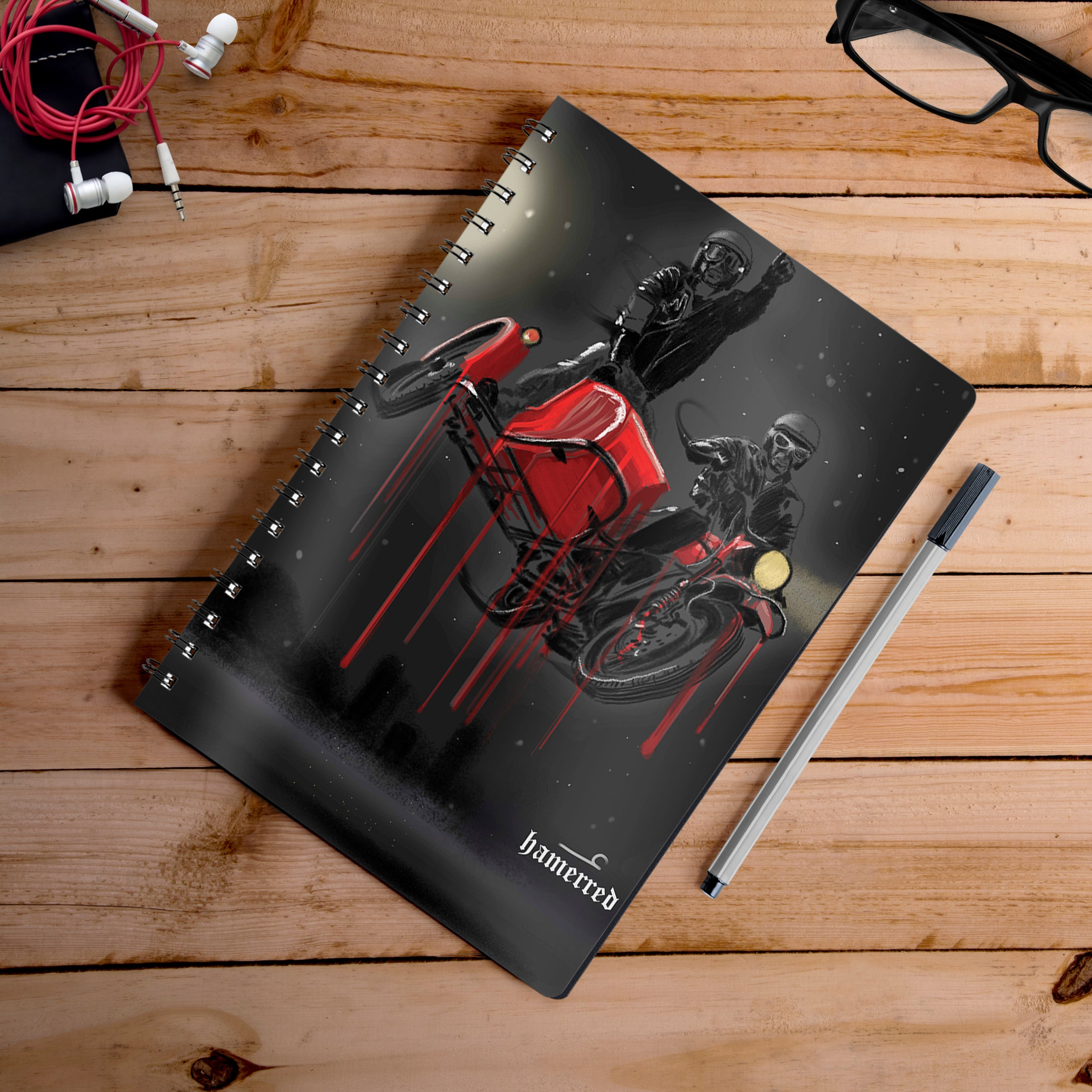Buy-Into-The-Night-Artist-Hamerred49-Notebook | 100kmph