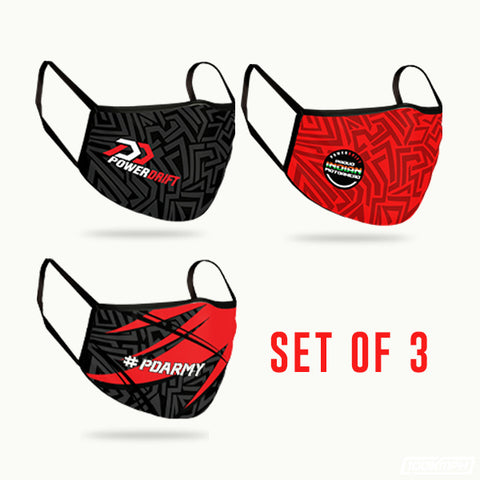 PowerDrift Set of 3 | Face Mask (4 Layer Protection)