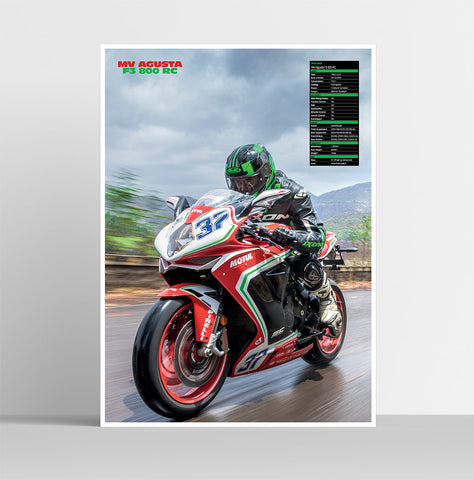 Fast Bikes India-MV Agusta F3 800 (Limited Edition) | Poster