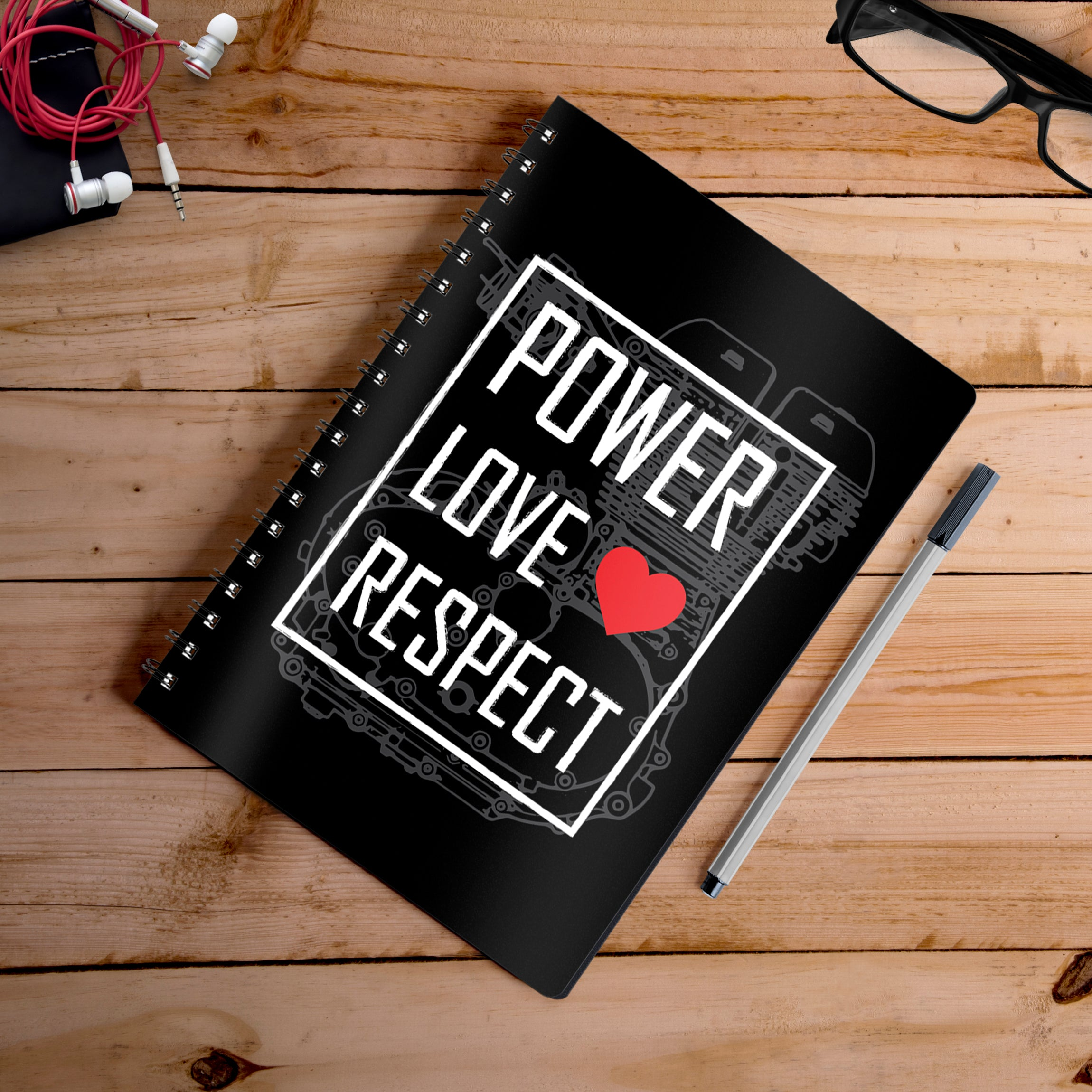 Buy-Power-Love-Respect-Notebook | 100kmph
