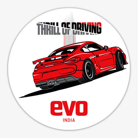 GT4-THRILL OF DRIVING-EVO INDIA | Sticker