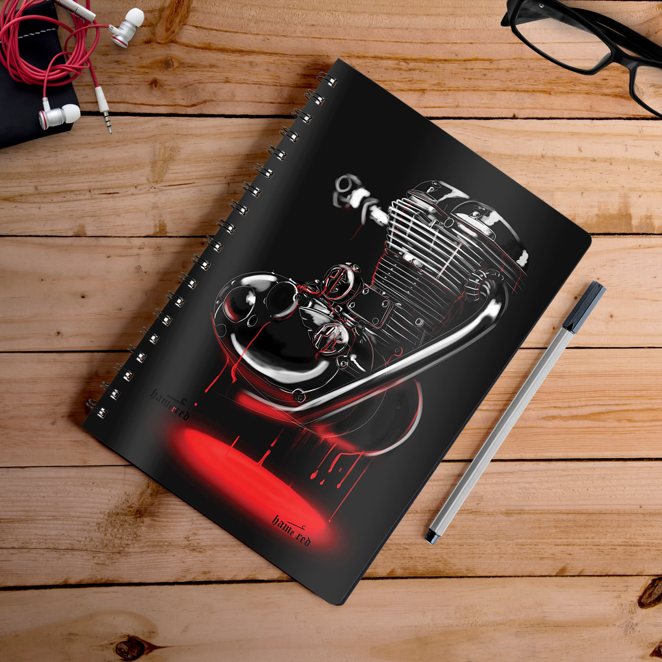 Buy-Re-Heart-Artist-Hamerred49-Notebook | 100kmph
