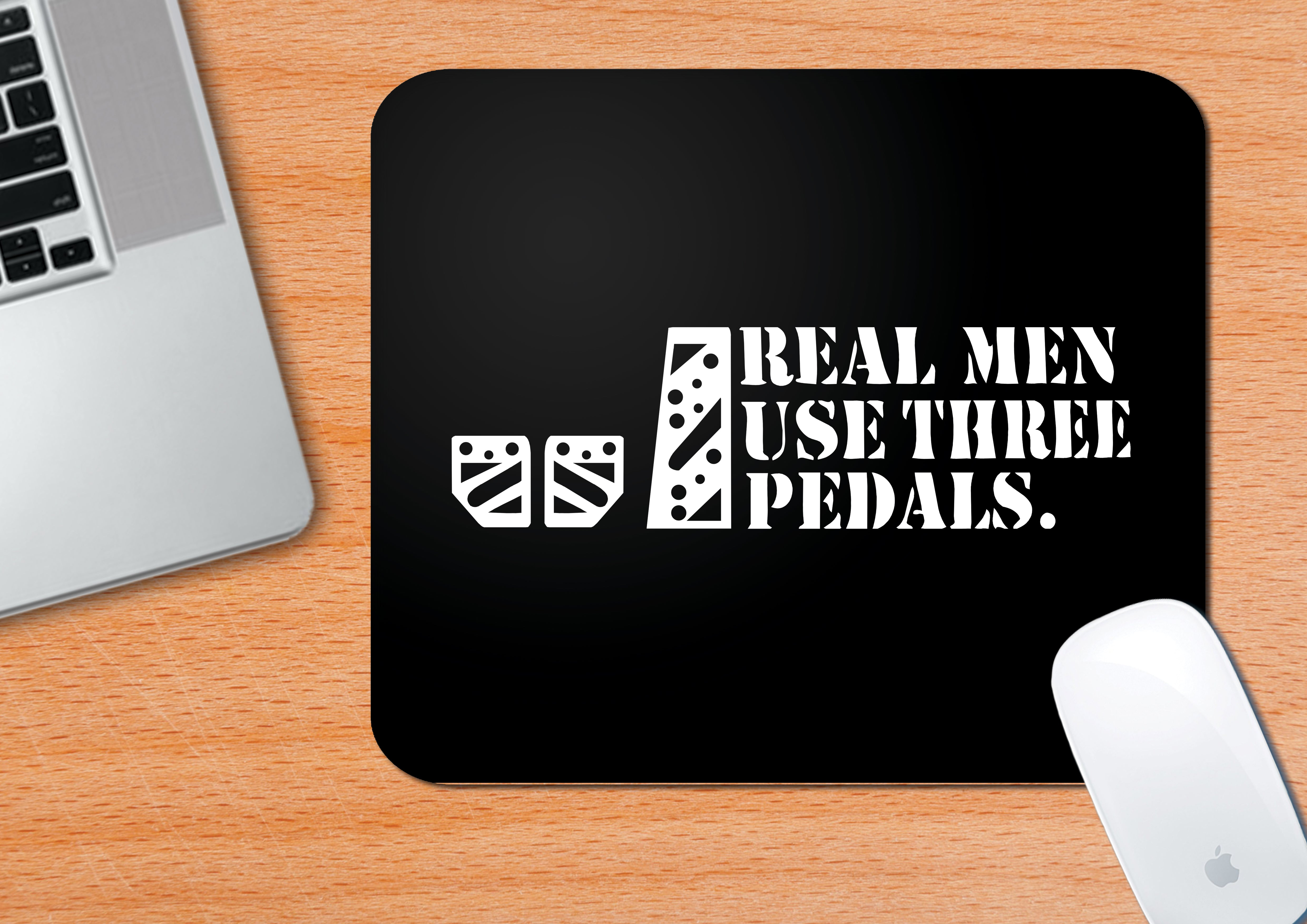Buy-Real-Men-Use-Three-Pedals-Mouse-Pad| 100kmph